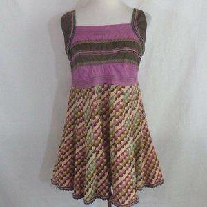 GLOBUS Hippie Boho Peasant Cotton Dress Sz L Large